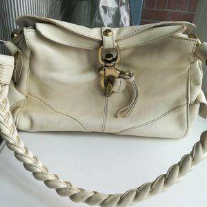 Francesco Biasia leather shoulder bag cream